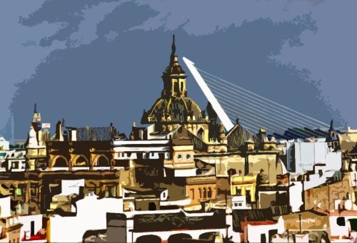 Sevilla, desde el campanario de la Giralda (CFB, 1994)